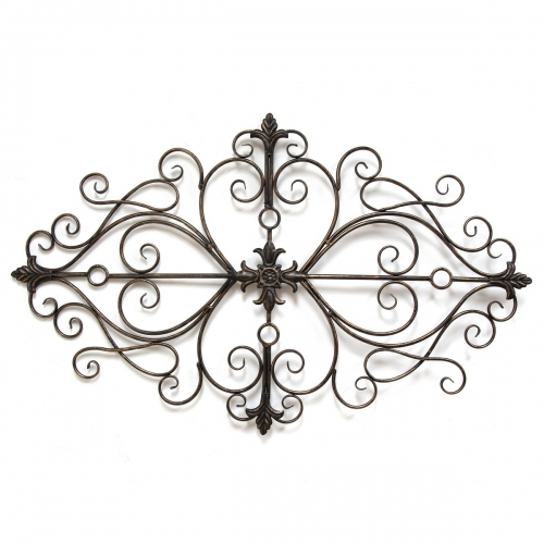 Traditional Scroll Wall Decor - Black