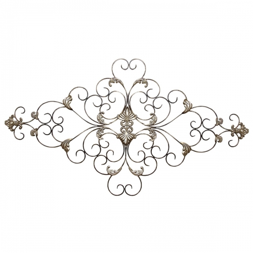 Ornate Scroll Wall Decor - Champagne