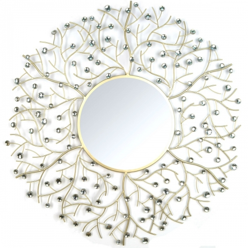 Acrylic Eloise Wall Mirror - Champagne