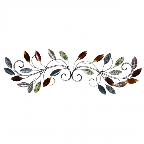 Multi leaf Scroll Wall Decor - Multi