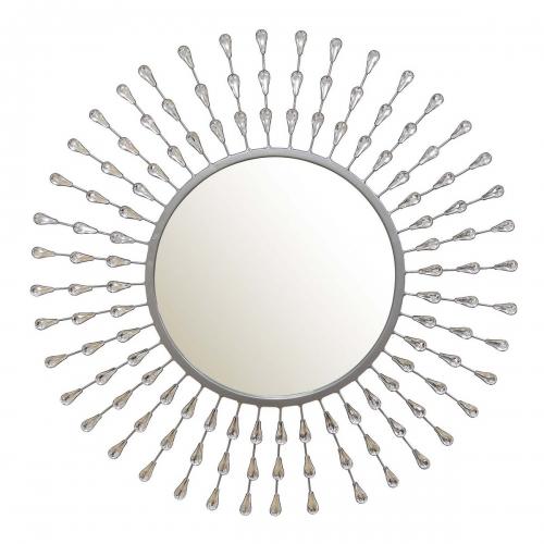 Melissa Tear Drop Mirror - Silver