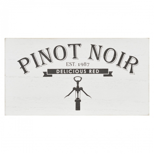 Pinot Noir Box Wall Art - White
