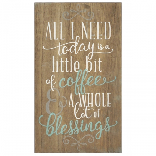Coffee and Blessings Wall Art - Brown