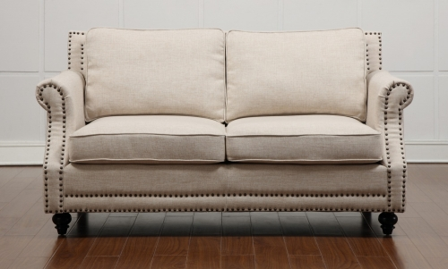 TOV Furniture Camden Beige Linen Loveseat