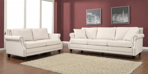 TOV Furniture Camden Beige Linen Living Room Set