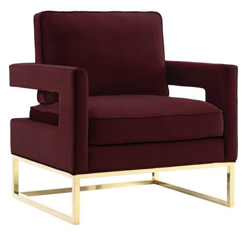 Avery Maroon Velvet Chair