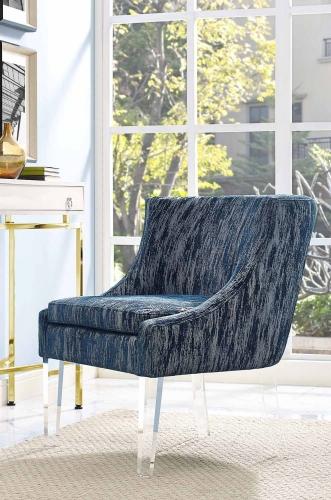 Myra Velvet Chair - Blue