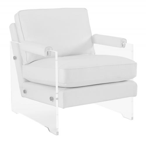 Serena Eco Leather/Lucite Chair - White