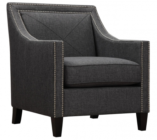 Asheville Dark Grey Linen Chair