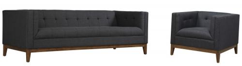 TOV Furniture Gavin Grey Linen Living Room Set