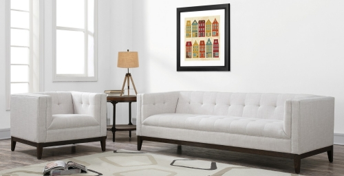TOV Furniture Gavin Beige Linen Living Room Set