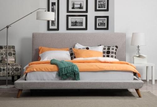 Nixon Beige Linen Bed