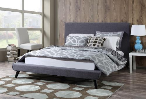 Nixon Grey Linen Bed
