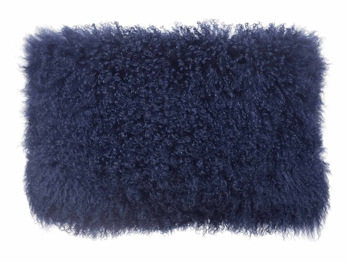 Tibetan Sheep Blue Pillow - Blue