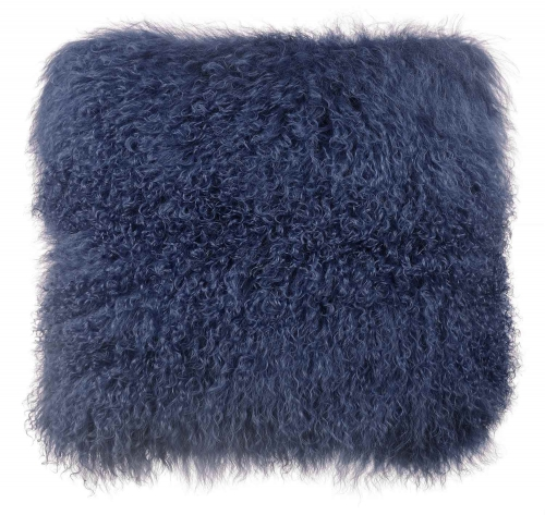 Tibetan Sheep Large Pillow - Blue