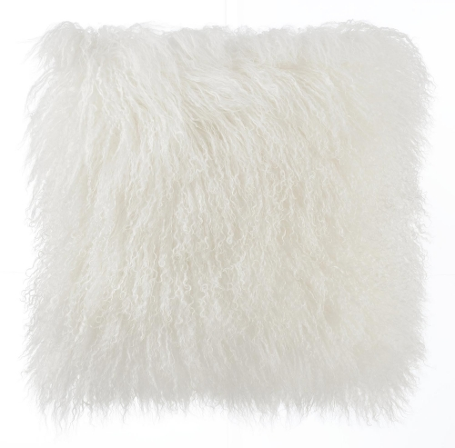 TOV Furniture Tibetan Sheep Pillow - White