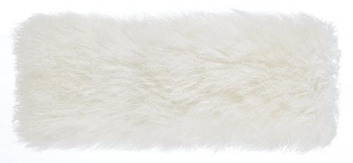 Tibetan Sheep Long Pillow - White