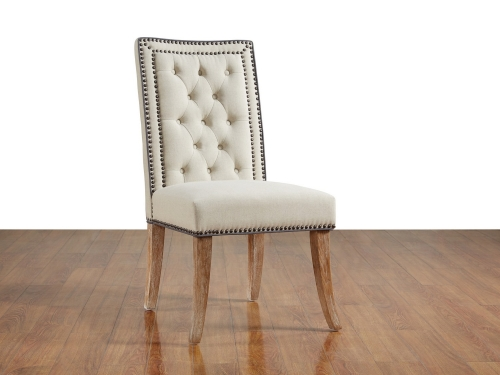 Garrett Beige Linen Dining Chair-Set of 2