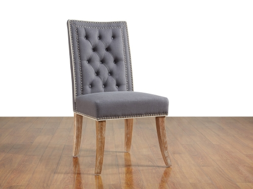 Garrett Grey Linen Dining Chair-Set of 2