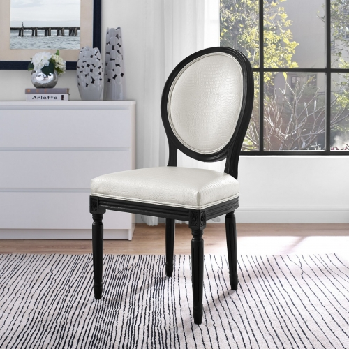 Philip White Croc Dining Chair - Set of 2