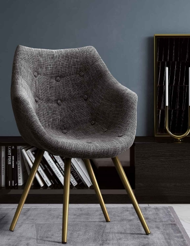 Finn Tweed Chair - Grey