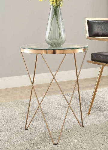 Marquee Table - Rose Gold
