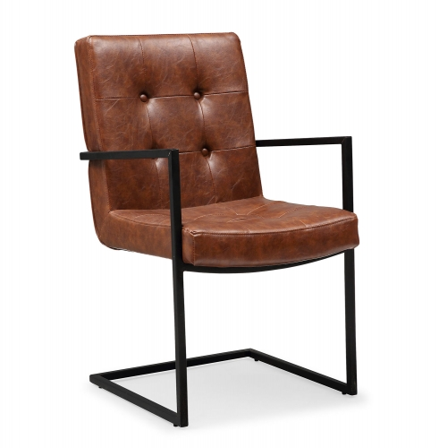 Stanley Arm Chair - Brown/Black