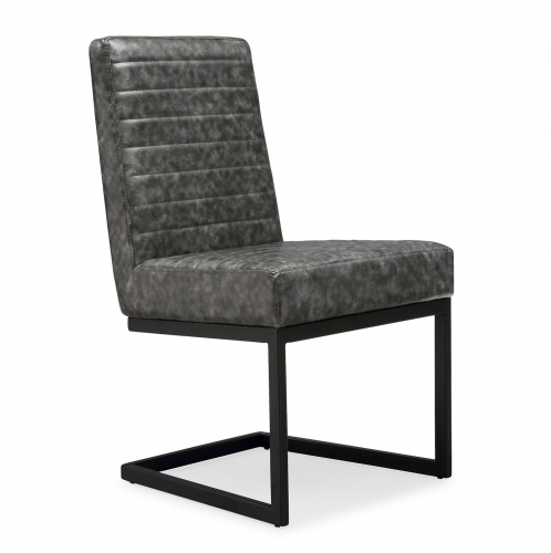 Austin Chair - Grey/Black - Set of 2