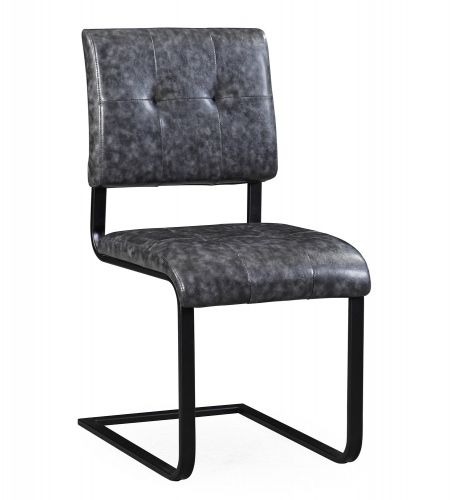 Cora Chair - Grey/Black - Set of 2