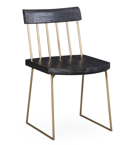 Madrid Pine Chair - Matte Black - Set of 2