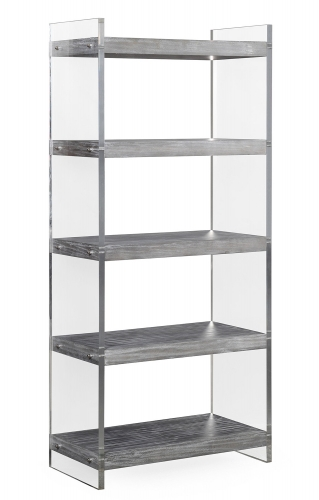 Berlin Lucite Bookcase - Washed Grey