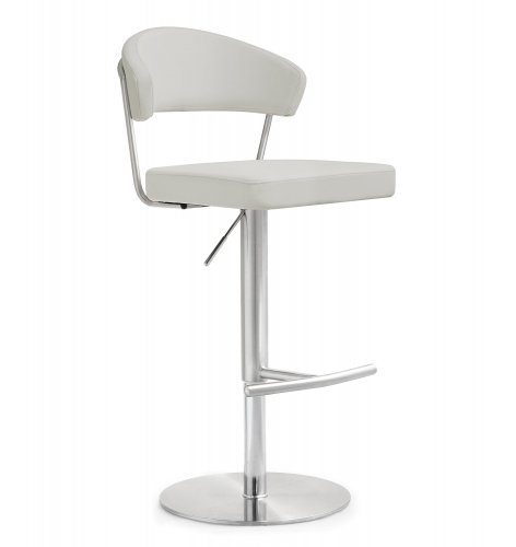 TOV Furniture Cosmo Steel Barstool - Grey