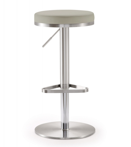 Fano Steel Adjustable Barstool - Light Grey