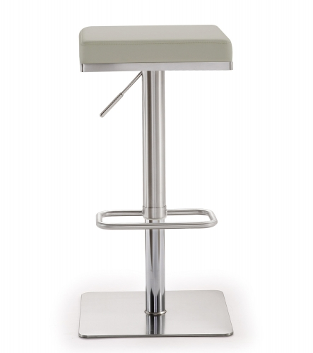 Bari Adjustable Barstool - Light Grey