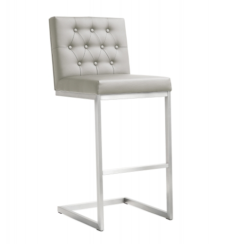 Helsinki Steel Barstool - Light Grey