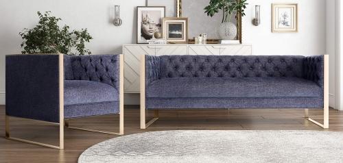 Farah Living Room Set - Navy