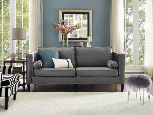 Cooper Grey Velvet Sofa