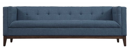 Gavin Blue Linen Sofa