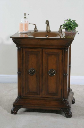 Cheap Ultimate Accents S Walnut Vanity