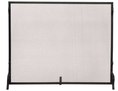 Large Black Single Panel Sparkguard - Uniflame