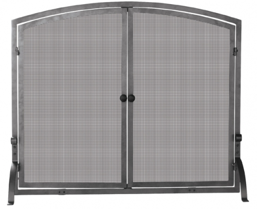 Medium Olde World Iron Screen with Doors - Uniflame