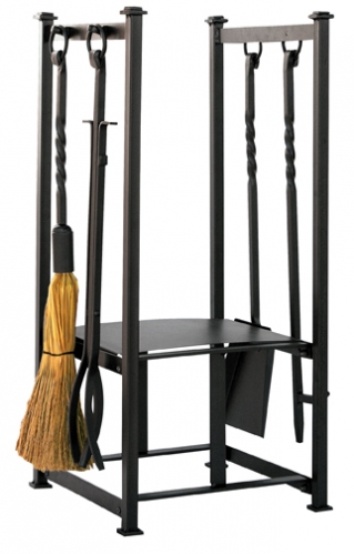 Olde World Iron Log Rack with Tools - Uniflame