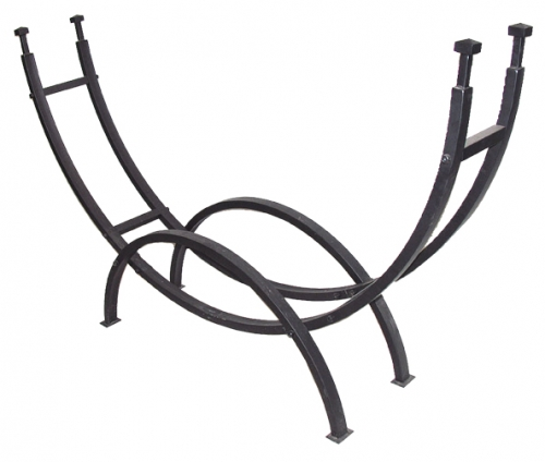 Contemporary Black Log Rack - Uniflame