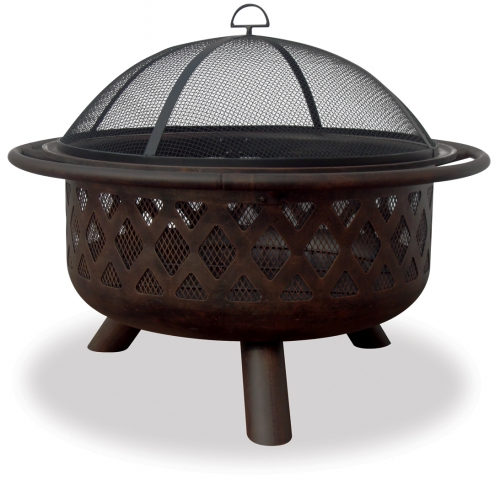 32 Inch Criss-Cross Bronze Firebowl - Uniflame