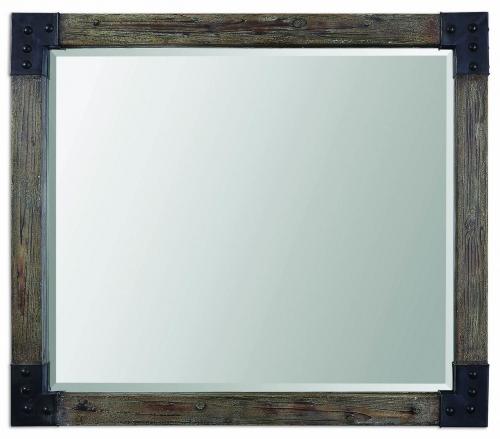 Nelo Weathered Wood Mirror