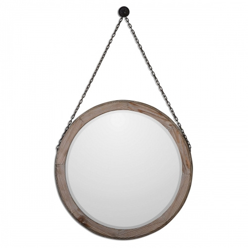 Loughlin Round Wood Mirror