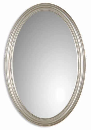 Franklin Oval Silver Mirror