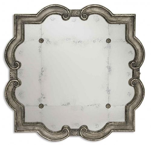 Prisca Distressed Silver Mirror
