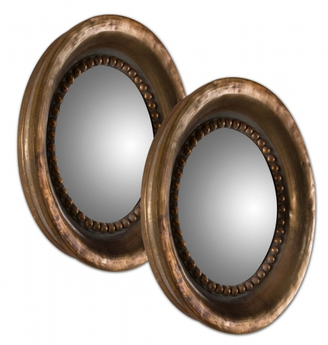 Tropea Rounds Wood Mirror - Set of 2