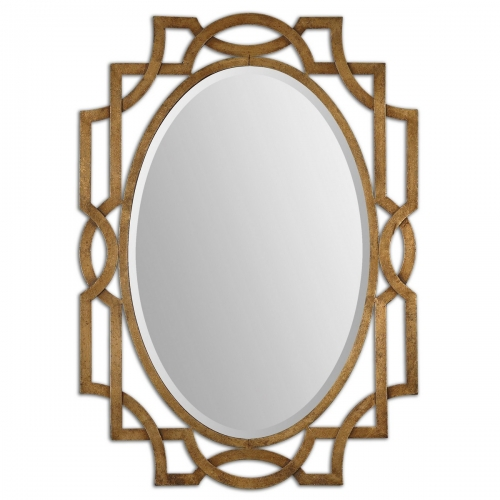 Margutta Gold Oval Mirror